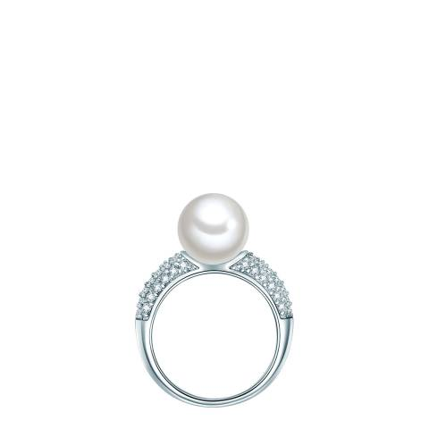 Perldesse Silver Pearl Ring 10mm