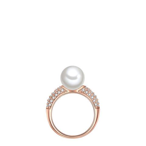 Perldesse Rose Gold Pearl Ring 10mm