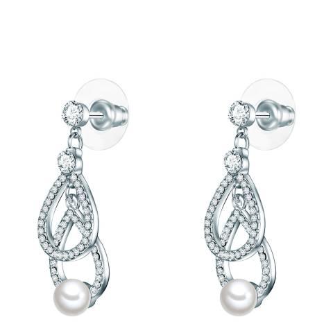 Perldesse White Pearl Chandelier Earrings 6mm