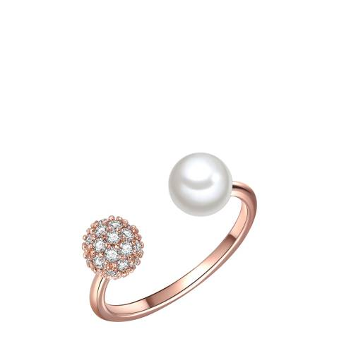 Perldesse Rose Gold Pearl Ring 6mm