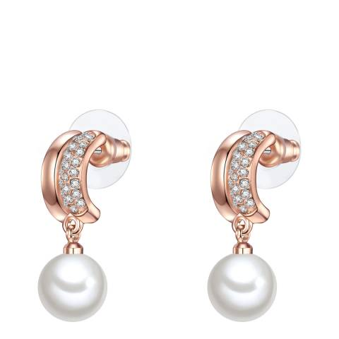 Perldesse Rose Gold Pearl Drop Earrings