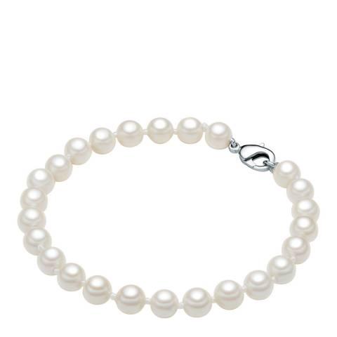 Pearls of London White Pearl Bracelet