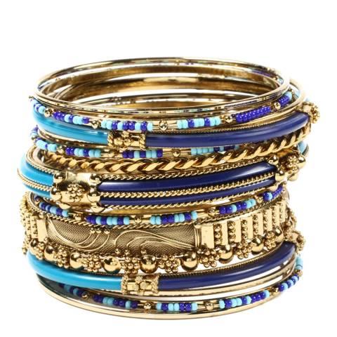 Amrita Singh Blue/Turquoise Monaco Bangle Set