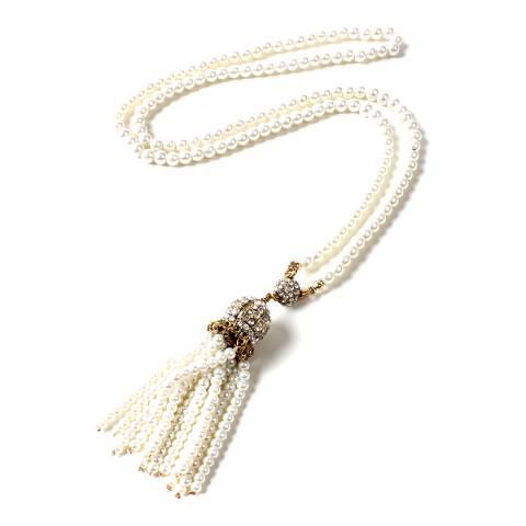 Amrita Singh Pearl Ankara Tassel Necklace