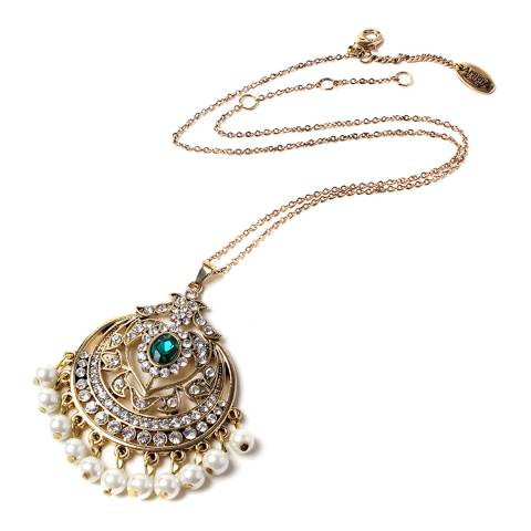 Amrita Singh Emerald/Gold Gayatri Necklace