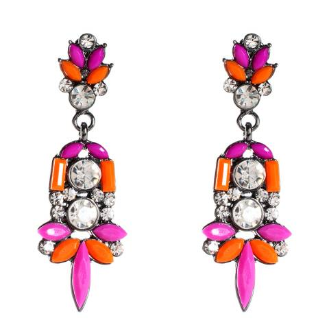 Amrita Singh Orange/Fuchsia Holi Dangle Earrings