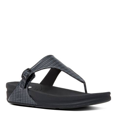 FitFlop Charcoal Superjelly Weave Flip Flops