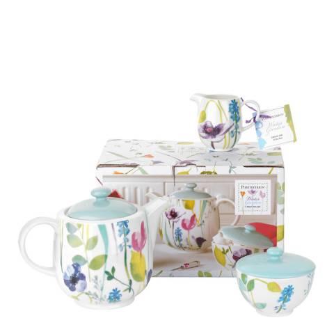 Portmeirion Watergarden 3 Piece Tea Set