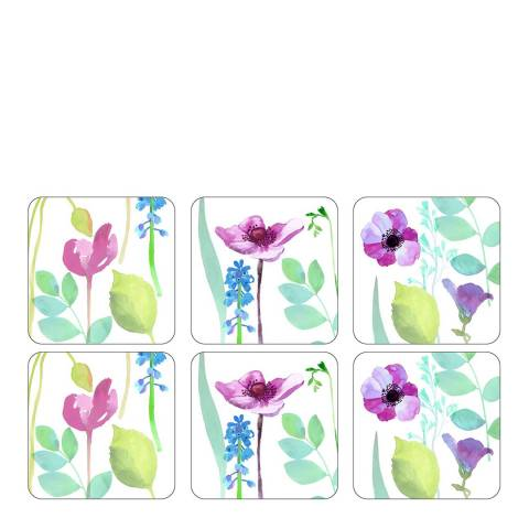 Portmeirion Set of 6 Water Garden Coasters