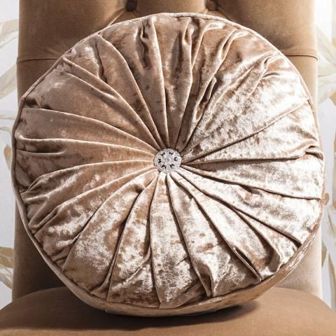 Parisian House Gold Loire Round Velvet Cushion 40cm