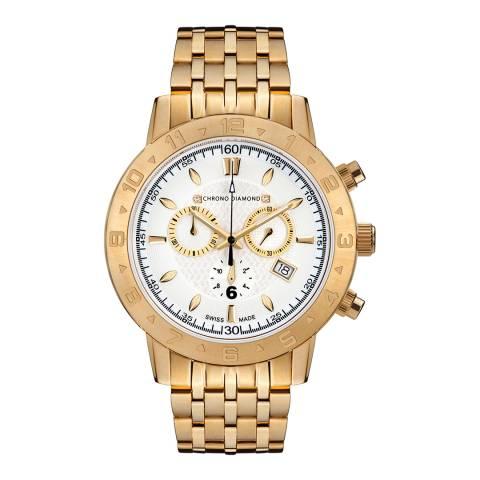 Chrono Diamond Men's Gold Stainless Steel 11600F Herrenuhr Hektor Watch