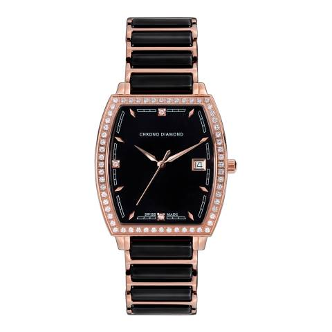 Chrono Diamond Women's Rose Gold Stainless Steel Leandra Watch