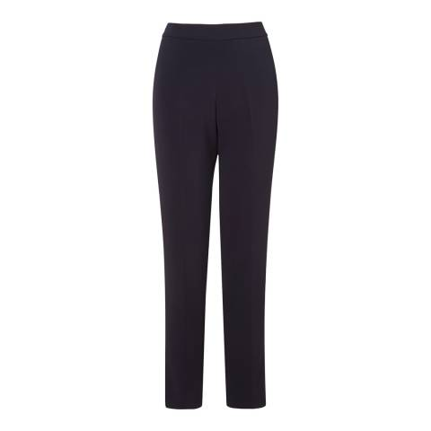 L K Bennett Blue Cleora Stretch Trousers