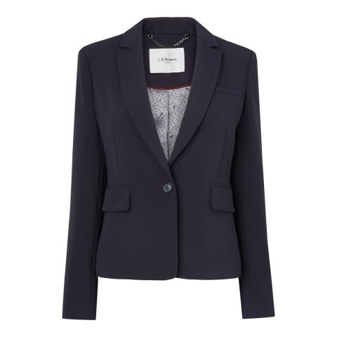 L K Bennett Navy Cleora Single Button Blazer Jacket