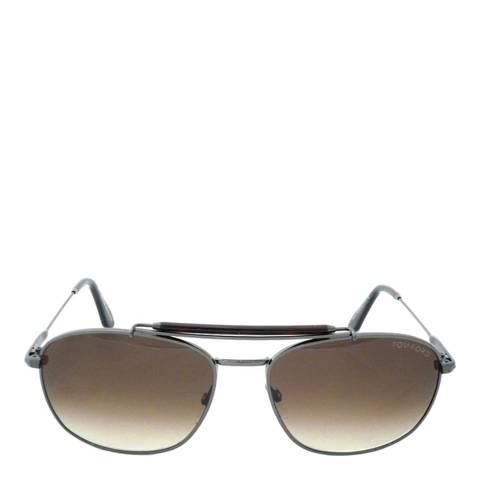 Tom Ford Men's Gunmetal Brown Marlon Sunglasses