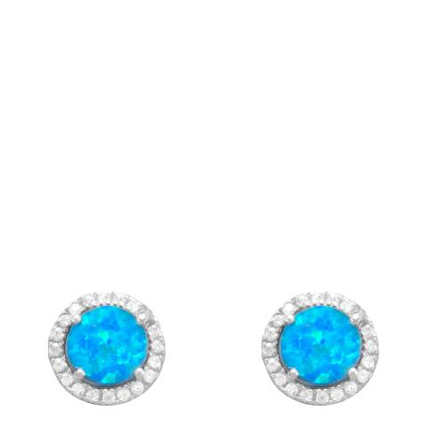 Alexa by Liv Oliver Blue Crystal Stud Earrings
