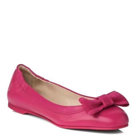 L K Bennett Fuchsia Leather Zelda Ballet Flats