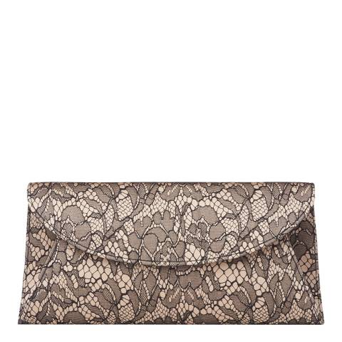 L K Bennett Blac/Nude Flo Lace Clutch Bag