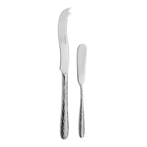 Monsoon Silver Mirage Cheese & Butter Knife Set