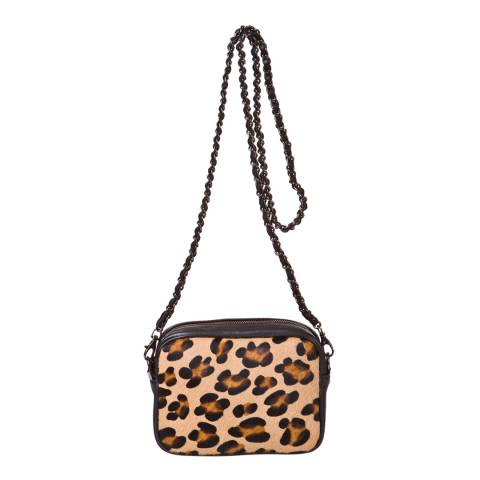Joana & Paola Leopard Cross Body Bag