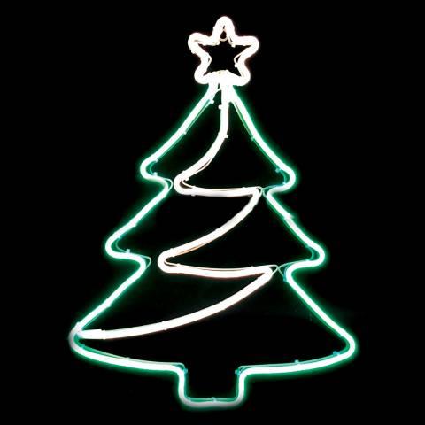 Festive Multi Neon Flex Tree Shape Decoration 64cm
