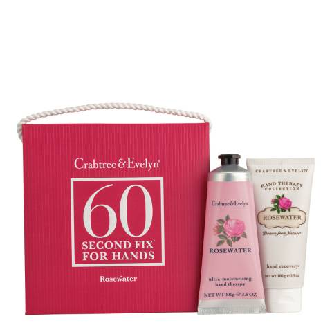 Crabtree & Evelyn Rosewater 60 Second Fix Kit For Hands 2 x 100g
