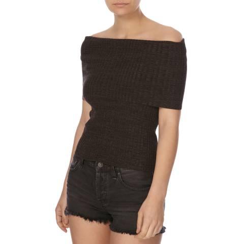 Free People Black Solic Carly Sweater