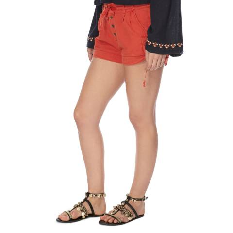Free People Red Melvin Shorts