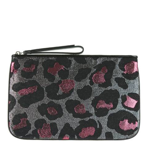 Marc by Marc Jacobs Black/Pink Metallic Leopard Print Pouch