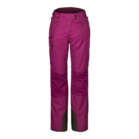 Jack Wolfskin Women's Dark Magenta Whiteline Texapore 3 In 1 Trousers