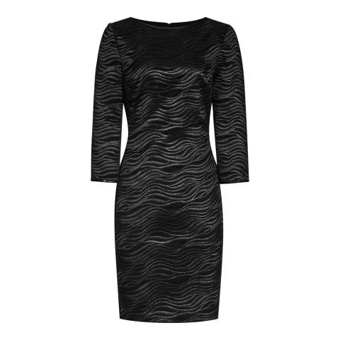 Reiss Black Bodycon Lace Lennox Dress