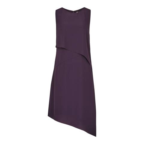 Reiss Purple Aya Asymetric Dress