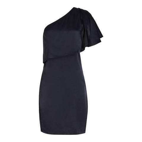 Reiss Navy Asymmetric Solstice Dress