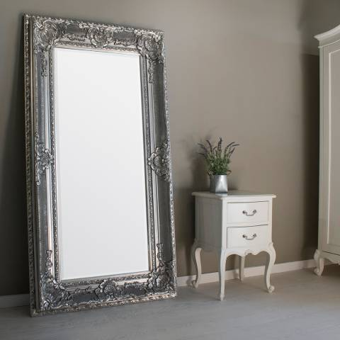 Gallery Silver Westminster Rectangular Mirror 180 x 99cm