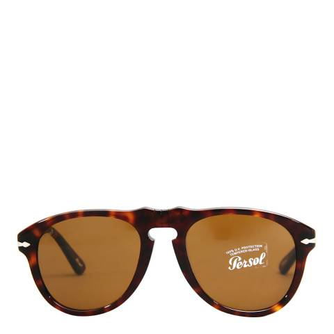 Persol Unisex Dark Havana Sunglasses 52mm