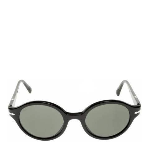 Persol Unisex Black Round Sunglasses 50mm