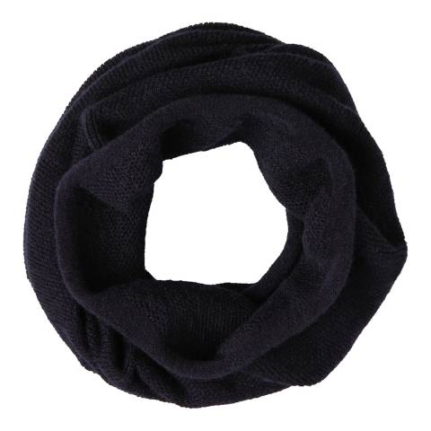Laycuna London Navy Italian Cashmere Snood