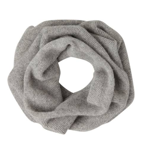 Laycuna London Grey Italian Cashmere Snood