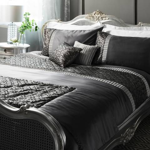 Parisian House Charcoal Deco Sequin Double Quilt Cover Set