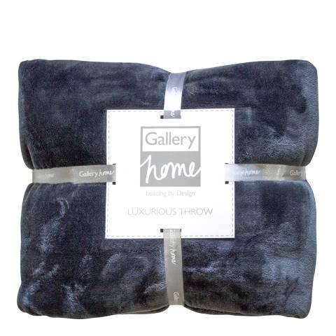 Gallery Charcoal Flannel Fleece Throw 140x180cm