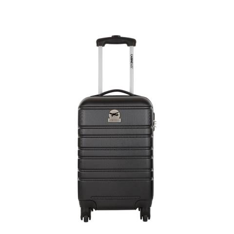 Cabine Size Black 4 Wheel Halifax Suitcase 45cm