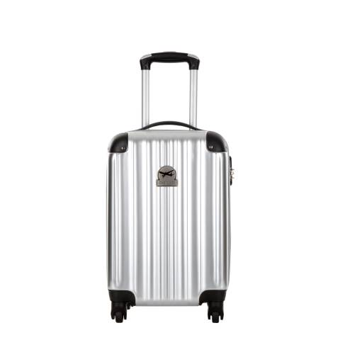 Cabine Size Silver Spinner Cabin Suitcase 50cm