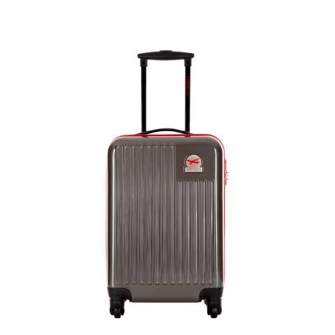 Cabine Size Grey 4 Wheel Cabin Suitcase 48 cm