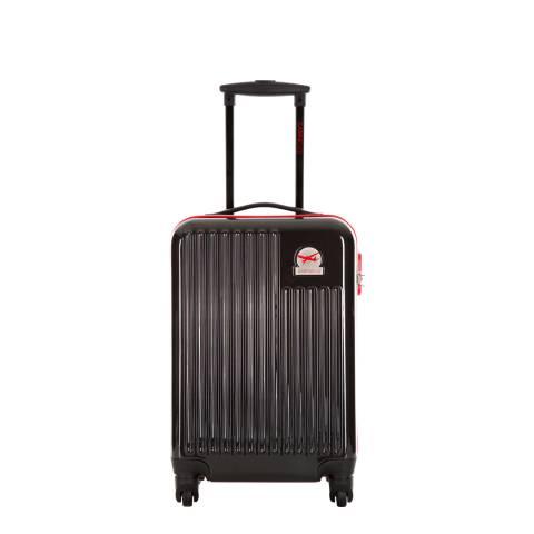Cabine Size Black 4 Wheel Cabin Suitcase 48cm