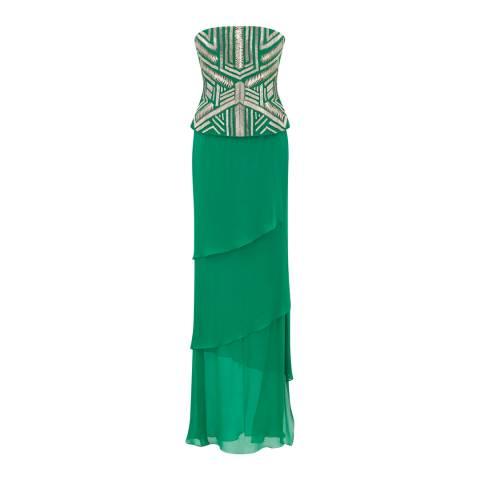 Amanda Wakeley Emeral Embellished Tiered Dress