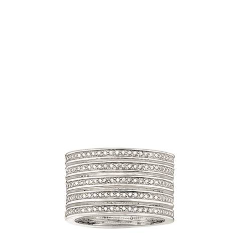 Thomas Sabo Silver Cubic Zirconia Five Row Ring