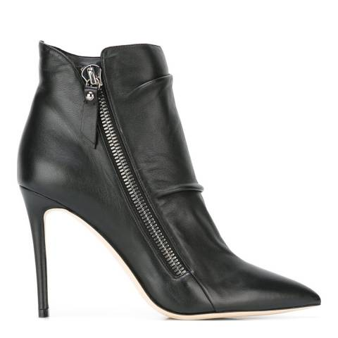 Jimmy Choo Black Leather Dayton Ankle Boots