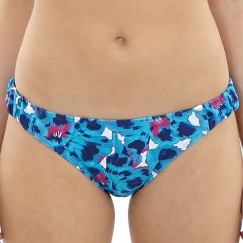 Cleo Swimwear Blue/Multi Suki Gather Bottom