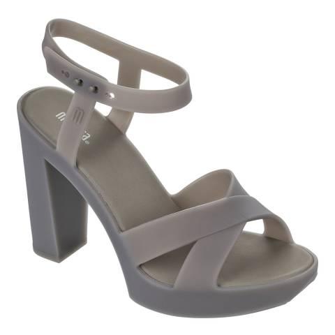 Melissa Matt Grey Classic Lady Block Heel Sandals