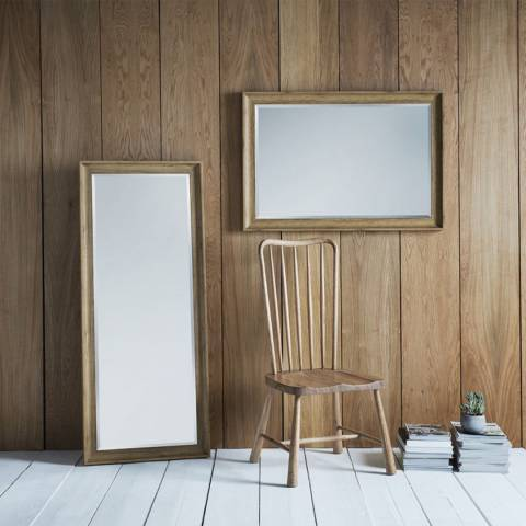 Gallery Light Brown Fraser Leaner Mirror 60 x 25 Inches
